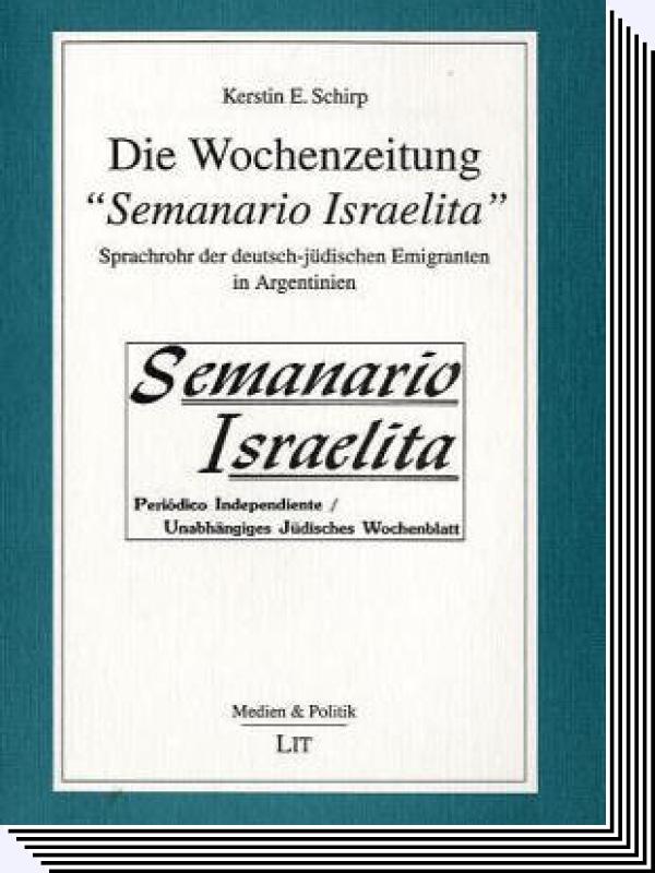 """Kerstin E. Finkestein – Die Wochenzeitung """"Semanario Israelita, Buch"""